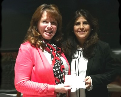 L>R: Deanna Evertt, President BPW Langley and Shahnaz Rahner, Executive Director Surrey Women's Centre